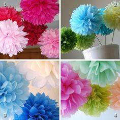 A little Etsy shopping: Tissue poms