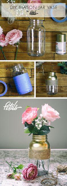 DIY Mason Jar Vase: