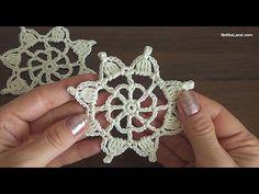 Crochet motif3  crochet doily   Part 1   Уроки вязания крючком.