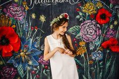 фотозона на грифельной доске бумажные цветы из бумаги декор дизайн в Кемерово Кузбассе www.flofra.ru оформления 10