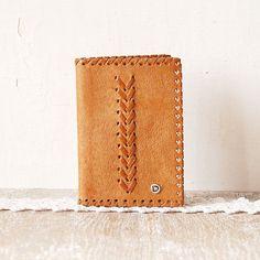 d17c7b97455a Vintage Leather Tooled Wallet Light Brown Billfold by singulars, €18.00-SR  Кожаная Тетрадь