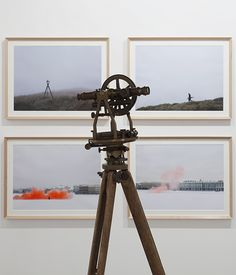 Anton Ginzburg, At the Back of the North Wind 54th Venice Biennial, Italy 2011  Antique theodolite