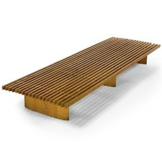 Charlotte Perriand; Oak 'Tokyo' Bench for Galerie Steph Simon, 1955. #furniture #midcentury #modern