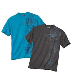 Lot de 2 Tee-Shirts Tuamotu : Admirez la sérigraphie de ces 2 tee-shirts manches courtes inspiré des tatouages traditionnels maoris. Les porter, c'est déjà un peu voyager ! Côté bien-être, vous apprécierez leur coupe ample et leur maille  jersey toute douce (160 g/m² env.). Finitions soignées : col rond bord côtes, manches et bas droit doubles surpiqûres, bande de propreté intérieur encolure. 100 % coton. Hauteur dos : 74 cm env. pour la taille L. Lavage en machine à 30°. Repassage sur…