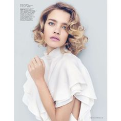 Natalia Vodianova Stars in L'Officiel Paris' March 2013 Cover Shoot ❤ liked on Polyvore