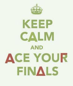 AGD - Keep Calm and Ace your Finals