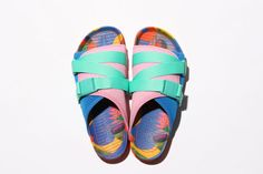 Poler x People Footwear Collaborative Sandals: Maximum comfort and style for the summer. Womens Flip Flops, How To Make Shoes, Fashion Killa, Shoe Game, Slide Sandals, Shoes Sneakers, Slippers, Footwear, Pairs