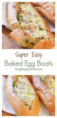 Baked Egg Boats