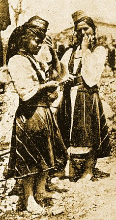 Arvanitovlaches - Mouzakirias, Central Albania end of the century, Tache Papahagi, Koukoudis 293 Albanian Culture, Greek Costumes, Historical Dress, 19th Century, Countries, Greece, Folk, Dance, History
