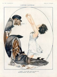 illustrations published in La Vie Parisienne, Fantasio, Le Sourire, Eros, fashion plates, pochoirs from La Gazette du Bon Ton and many more! (1919)