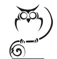 Tribal Owl Tattoo Model