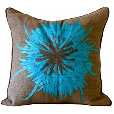 I pinned this Bloom Pillow in Aqua from the Patterns That Pop event at Joss and Main!