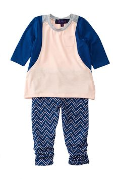 Tunic & Printed Pant Set (Baby Girls) by Weavers on @nordstrom_rack