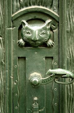 Cat & mouse - door in Germany