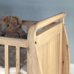 Amelie Solid Oak Baby Cot-Bed with Three Drawers -  - Bed - Baumhaus - Space & Shape - 5