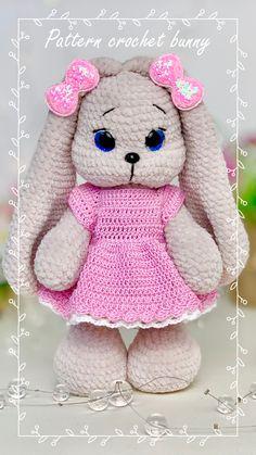 Diy Crochet And Knitting, Crochet Rabbit, Crochet Animal Patterns, Crochet Patterns Amigurumi, Bunny Plush, Rabbit Toys, Sewing Basics, Amigurumi Toys, Handmade Toys