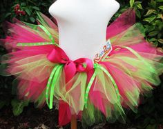 Lady Bug Tutu in Hot Pink and Lime First Birthday Tutu Toddler 2-4T