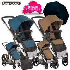 Silla de Paseo SLIDE de Be Cool LOUNGE Dune vs Petrol 2016