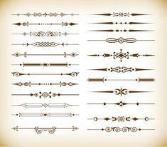 Free Vector Set of Vintage Design Divider Elements #freebies