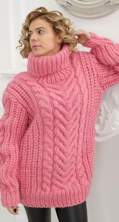 Thick Sweaters, Mohair Sweater, Turtle Neck, Boutique, Jumpers, Pink, Fashion, Breien, Moda