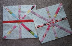 asterisk block - no tutorial but I like the looks of these fabrics together