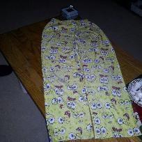 spongebob flannell pj bottoms