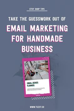 Take the guesswork out of email marketing for your handmade business - learn the basics and download a free welcome series planner to help you plan your online shop newsletter pain-free! Business Emails, Small Business Marketing, Email Marketing, Business Tips, Online Business, Etsy Business, Marketing Tools, Business Branding, Digital Marketing