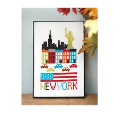 Hey, I found this really awesome Etsy listing at https://www.etsy.com/listing/156540615/new-york-cross-stitch-pattern-instant