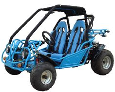 A popular company, Roketa produces this go kart. It has CVT, 250cc engine with water-cooling technology. It's max. speed is 43 mile/hr and max. horse power is 14.3hp. It has auto start system and 22 degree climbing ability. Browse this image and get more information.