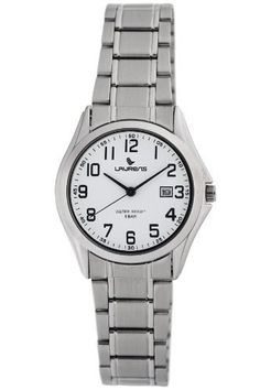 Laurens Women's A379J900Y Stainless-Steel Watch Laurens. $33.99. Second hand. Date window. Black Arabic numerals. Push pull crown; Brushed stainless steel bracelet. Water-resistant to 165 feet (50 M). Save 15%!