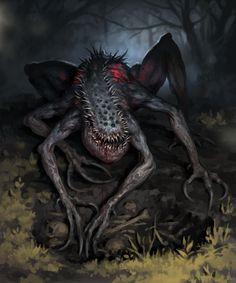 Monster Art, Creepy Monster, Monster Concept Art, Fantasy Monster, Monster Design, Dark Fantasy Art, Fantasy Demon, Fantasy Beasts, Fantasy Names