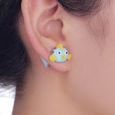 3D Goldfish Stud Earrings