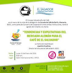 Compartimos invitación a productores, empresarios y amigos de Sector Cafetalero sobre visita de @BSOC #GobSV