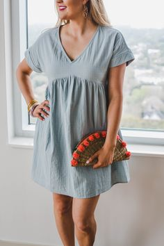 871922cb052f Shop Pomp and Circumstance Boutique! Easy Breezy Dress in Sage (in Tomato  too!