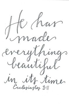 Ecclesiastes 3:11 Printable Digital Download by TheLizzyParkerShop