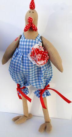 Handmade Tilda Chicken  Interior Doll  Dandy stylish by TweeteeNZ, $40.00