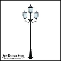 Love this Victorian-style Street Light! Lampposts can be installed in front yards to add Curb Appeal