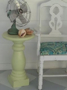 10 smart ideas for finding yards of beautiful cheap fabric. Find the fabric you want without spending a fortune to do it. Wood Block Crafts, Wood Blocks, Indoor Outdoor Carpet, Outdoor Chairs, Repurposed Furniture, Painted Furniture, Refinished Furniture, Painted Plywood Floors, Key West Style