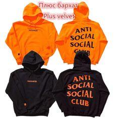 ANTI SOCIAL CLUBE SOCIAL ASSC Pullover Hoodies Das Mulheres Dos Homens 1:1 de Alta Qualidade Moletom Com Capuz Hip Hop Kanye West Jaqueta Invicto