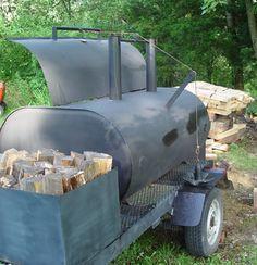 BBQ Pitbuilders: Best use of an Bbq Smoker Trailer, Bbq Pit Smoker, Diy Smoker, Bbq Grill, Homemade Smoker Plans, Barbecue Pit, Bar B Que Grills, Custom Smokers, Build A Smoker