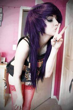Dark purple emo hair maybe?