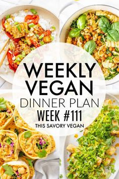 Vegan Dinner Recipes, Vegan Dinners, Vegetarian Recipes, Healthy Recipes, Vegetarian Cooking, Vegan Food, Delicious Recipes, Healthy Food, Vegan Meal Plans