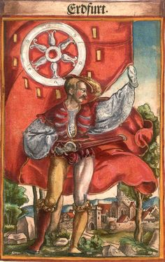 "Erfurt [Erdfurt] (f°83) -- Koebel, Jacob, ""Wapen des heyligen römischen Reichs teutscher Nation"", Franckfurth am Main, 1545 [BSB Ms. Rar. 2155]"