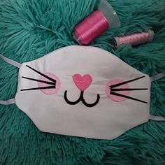 In The Hoop face mask Kitty Machine Embroidery design Machine Embroidery Projects, Embroidery Software, Mask Design, Dog Design, Diy Mask, Diy Face Mask, Face Masks, Silk Ribbon Embroidery, Embroidery Jewelry