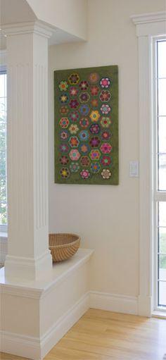 2012-08-22 African flower crochet wall hanging