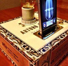 iPod iPhone Dock Cigar Box & Steampunk by ElectricGoodsCompany, $45.00