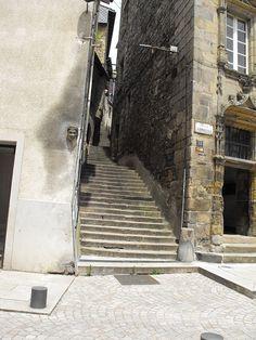 Tulle (Corrèze) - ruelle à degrés