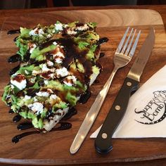 Sugar Bomb girls just get it.  Extra balsamic glaze on smashed avocado with feta.  Oh my gawd.