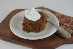 Gluten Free Gingerbread Cake from LynnsKitchenAdventures.com