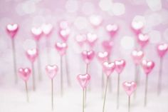 Pretty Pink Hearts (5x7)--pokey little stick pin hearts